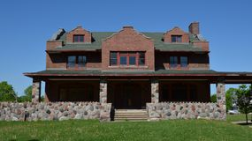 Judd Mansion. This is a Spring picture of the Raymond Judd Mansion located in St. Charles, Illinois. The mansion built by F.P. Haviland, is the only example of a royalty free stock images