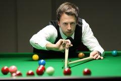 """Judd Trump van het UK in actie tijdens de toernooien""""victoria Bulgarije open† van de Wereldsnooker nov., 2012 in van Sofia,  Stock Afbeeldingen"""
