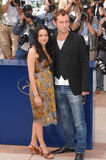 Jude Law,Norah Jones. Jude Law & Norah Jones at the photocall for their new movie My Blueberry Nights at the 60th Annual International Film Festival de Cannes Royalty Free Stock Image