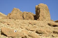Judea沙漠岩石。 免版税库存图片
