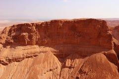 Judea Desert. Red rock in Judea desert near Masada - Israel Royalty Free Stock Photography