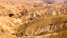 Judean山离开,以色列,全景 库存图片