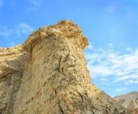 Judean沙漠的白垩纪岩石 免版税库存照片