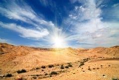 Judean沙漠 免版税库存照片