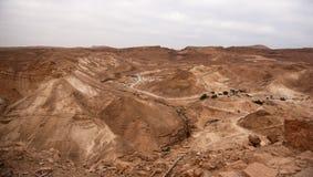Judean öken av Israel Arkivfoto