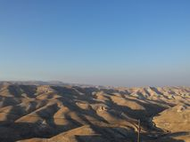 Israel/Palestine: Judean desert by dawn Stock Photos