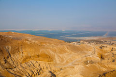 Judean desert and the dead sea Stock Images