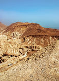 Judean desert near the shore of the Dead Sea. Royalty Free Stock Photo