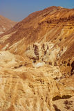 Judean desert near the shore of the Dead Sea. Stock Image