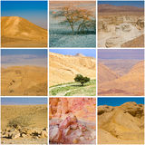 Judean Desert square collage Royalty Free Stock Images