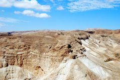 Judean Desert. View on the way to Masada. Israel Royalty Free Stock Images