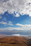 judean morgonvinter för öken Arkivfoton