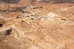 Judean-Wüste bei Masada - Israel Stockbilder
