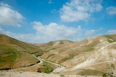 Judean-Wüste Israel am Frühling Stockbilder