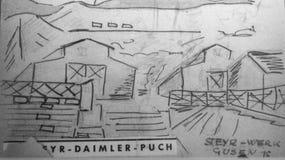 JUDEN毛特豪森& GUSEN 1938-1945 免版税图库摄影