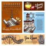 Judentum, jüdische religiöse Feiertage, Vektor vektor abbildung