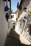 Juderia's street vith flowers. Flowers in Cordoba, Barrio Juderia Royalty Free Stock Photos