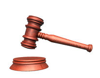 Judge. 3d illustration looks mallet of judge Royalty Free Stock Images