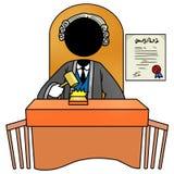 Judge. Silhouette-man at work - judge Stock Photos