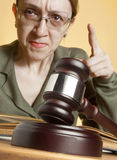 Judge royalty free stock photography