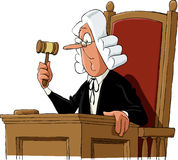 Judge. A judge on a white background, vector