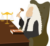 Judge. Utters an oath sitting in his cabinet Stock Image