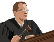 Judge. My vector illustration with . Man in black Stock Photo