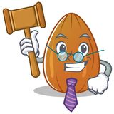 Judge almond nut character cartoon Stock Images