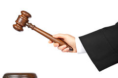 Judge announce the verdict royalty free stock photo