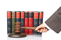 Judge announce the verdict Stock Photos