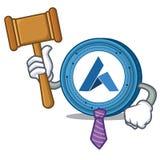 Judge Ardor coin mascot cartoon. Vector illustration Royalty Free Stock Photo