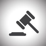 Judge or auction hammer icon Royalty Free Stock Photography