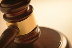 Judge or auctioneers gavel Royalty Free Stock Photos