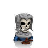 Judge avatar skull Stock Image