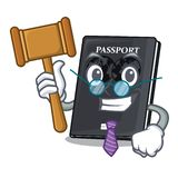 Judge black passport isolated with the cartoons. Vector illustration stock illustration