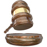 Judge Block Gavel Judgment Court Case Lawsuit Verdict. A judge's gavel and block as a verdict or judgment is enforced to decide a court lawsuit or case Royalty Free Stock Photos