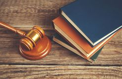 Judge and books royalty free stock photo