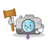 Judge camera character cartoon design Stock Photos