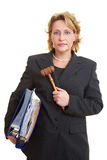 Judge carrying files Stock Image