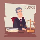 Judge cartoon illustration. Vector eps 10 Stock Photography
