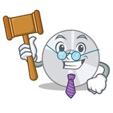 Judge CD mascot cartoon style stock illustration
