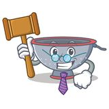 Judge colander utensil character cartoon Royalty Free Stock Photo