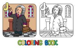Judge Coloring book. Alphabet J. Profession ABC Stock Photos