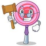 Judge cute lollipop character cartoon. Vector illustration Royalty Free Stock Image