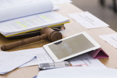 Judge desk Stock Photography