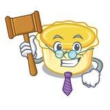 Judge egg tart mascot cartoon. Vector illustration Stock Photo