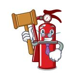 Judge fire extinguisher mascot cartoon. Vector illustration Royalty Free Stock Images