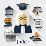 Judge flat icon. Justice vector symbols Royalty Free Stock Photo