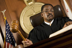 Judge Forming Sentence Royalty Free Stock Photos
