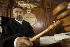 Judge Forming Sentence Stock Photo